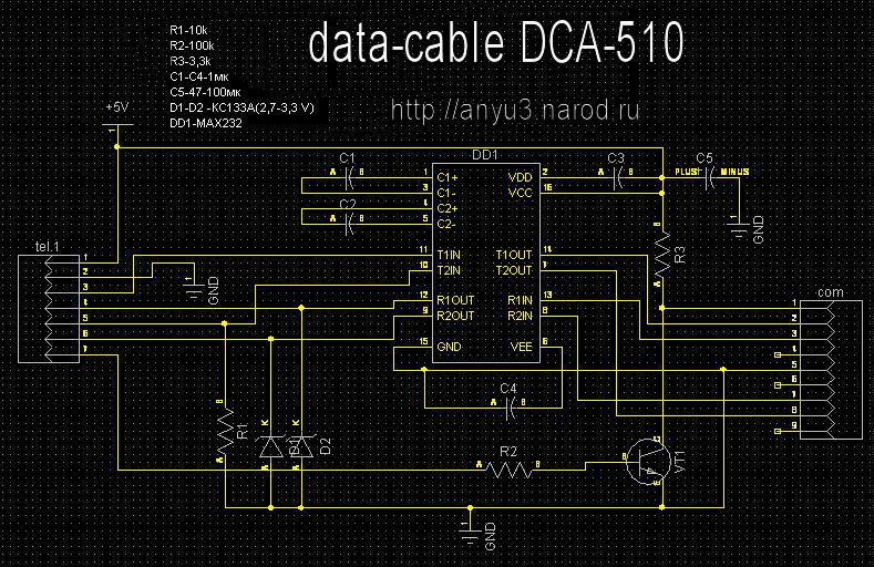 Data кабель dca 510 схема